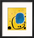 L'Oro dell' Azzurro Reproduction encadrée par Joan Miró