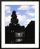L'Empire des Lumieres Reproduction encadrée par Rene Magritte