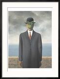 Le Fils de L'Homme (Son of Man) Reproduction encadrée par Rene Magritte