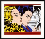 In the Car, c.1963 Reproduction encadrée par Roy Lichtenstein