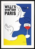 Willi's Wine Bar, 2005 Reproduction encadrée par Jean-Charles De Castelbajac