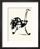 The Ostrich Reproduction encadrée par Pablo Picasso