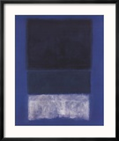No. 14 White and Greens in Blue Reproduction encadrée par Mark Rothko