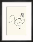 Le coq, c.1918 Reproduction encadrée par Pablo Picasso