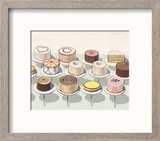 Cakes, 1963 Reproduction encadrée par Wayne Thiebaud