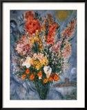 Bouquet de Fleurs Reproduction encadrée par Marc Chagall