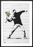 Flower Bomber Reproduction encadrée par Banksy