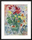 Grand Bouquet de Renoncules, 1968 Reproduction encadrée par Marc Chagall