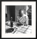 Les Pains de Picasso, Vallauris 1952 Reproduction encadrée par Robert Doisneau