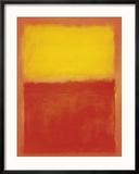 Orange and Yellow Reproduction encadrée par Mark Rothko