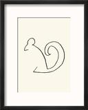 The Squirrel Reproduction encadrée par Pablo Picasso