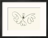 Le papillon Reproduction encadrée par Pablo Picasso
