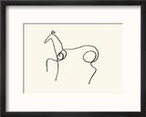 The Horse Reproduction encadrée par Pablo Picasso