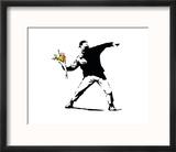 Flower Chucker Reproduction encadrée par Banksy
