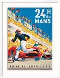 Le Mans 20 et 21 Juin 1959 Reproduction encadrée par Beligond