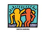 Untitled Pop Art Tableau sur toile par Keith Haring