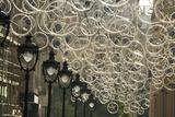 Bicycle Parts Turned into Hanging Art Tableau sur toile par Michael Melford