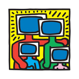 Untitled Pop Art Tableau sur toile par Keith Haring