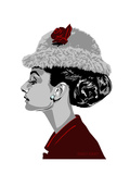 Audrey Hepburn - I Believe in Red Tableau sur toile par Emily Gray