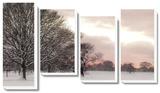 Rosy Sunset *Exclusive* Tableau multi toiles par Assaf Frank