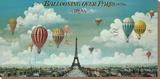 Vol en ballon au dessus de Paris Tableau sur toile par Isiah And Benjamin Lane