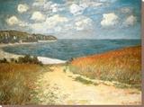 Chemin dans les blés à Pourville Tableau sur toile par Claude Monet