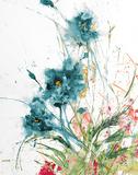 Flora Blue Crop on White