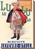 Lu Biscuits - The Little Student (Le Petit Ecolier) - Lefèvre-Utile (LU) Tableau sur toile par Fermin Bouisset