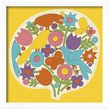 Fleurs et oiseaux Reproduction encadrée par Pop Ink - CSA Images