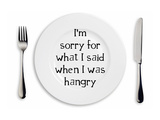 Hangry Sorry Plate