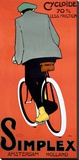 VINTAGE 1915 DUTCH SIMPLEX BICYCLE POSTER