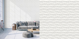 Lines Washed Self-Adhesive Wallpaper by Bobby Berk