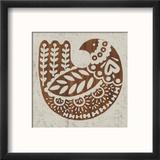 Country Woodcut II Reproduction encadrée par Chariklia Zarris