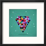 Retro Hipsters Trendy Triangle Diamond Illustration