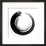 Black Calligraphic Brush Reproduction encadrée par Oriontrail2