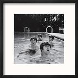 Paul McCartney  George Harrison  John Lennon and Ringo Starr Taking a Dip in a Swimming Pool