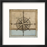 Compass Rose I Reproduction encadrée par Karen Williams