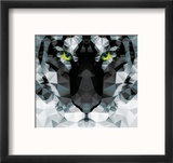 Geometric Polygon White Tiger Head, Triangle Pattern Design, Vector Illustration Reproduction encadrée par BlueLela