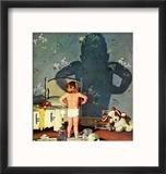 """Big Shadow, Little Boy,"" October 22, 1960 Reproduction encadrée par Richard Sargent"