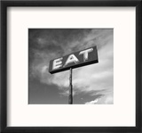 """Vintage """"Eat"""" Restaurant Sign Reproduction encadrée par Aaron Horowitz"""