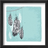 Ethnic Dream Catcher Reproduction encadrée par Transiastock