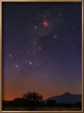The Milky Way  Carina Nebula  Constellation Crux at Dawn over Mount Kilimanjaro and Mawenzi Peak