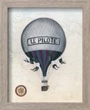 Vintage Hot Air Balloons II Reproduction encadrée par Naomi McCavitt