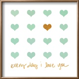 Everyday I Love You Reproduction encadrée par Shelley Lake
