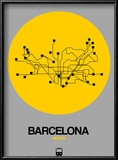Barcelona Yellow Subway Map