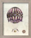 Vintage Hot Air Balloons I Reproduction encadrée par Naomi McCavitt