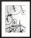 Bicycle Display at Swiss Transport Museum, Lucerne, Switzerland Reproduction encadrée par Walter Bibikow