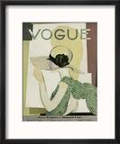 Vogue Cover - May 1928 Reproduction encadrée par Georges Lepape