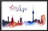 World Cities Skyline IV Reproduction encadrée par Grace Popp