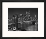 Top View Brooklyn Bridge - New York City Icons Reproduction encadrée par Henri Silberman
